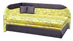 Čalúnená posteľ - celoplošné rohové dvojlôžko tina 120 a