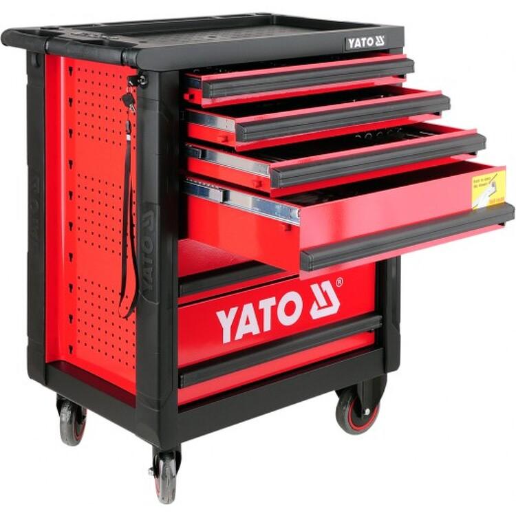 b8e0dea2830fd Dielenská skrinka YATO YT-5530 s náradím. Kvalitné pojazdná skrinka so  zásuvkami ...